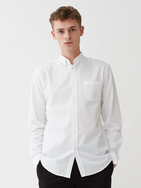 Ocean Oxford Shirt | White