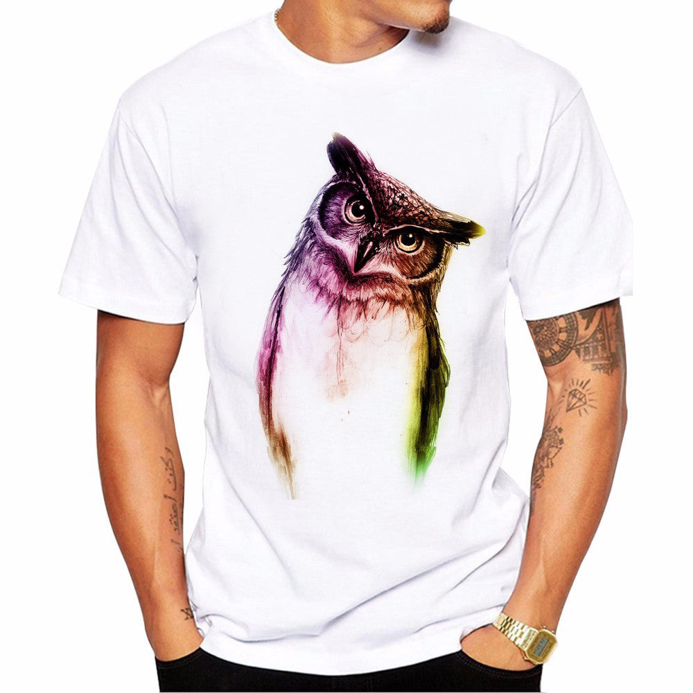 Thinking Owl Round Neck T-shirt