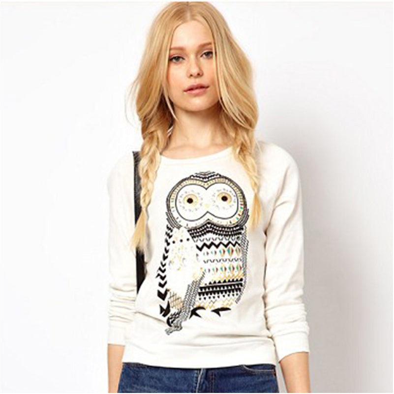 Casual Cute Owl Top