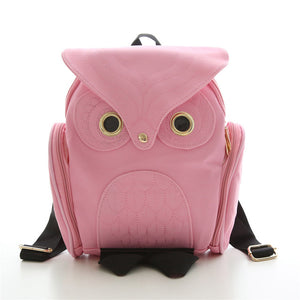 Leather Owl Women Backpack