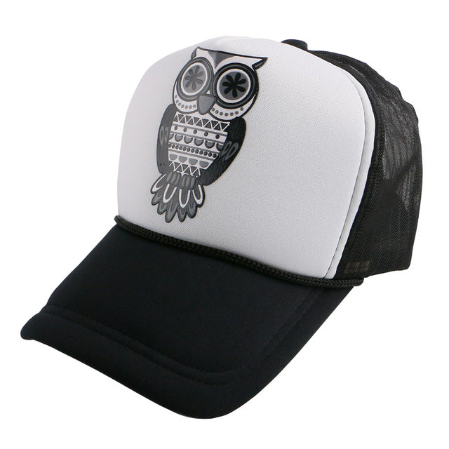 Adjustable Owl Unisex Baseball Cap