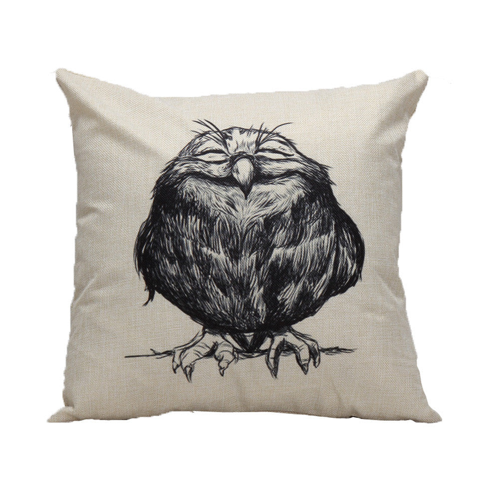 Owl Pillow Case for the 45*45cm pillow
