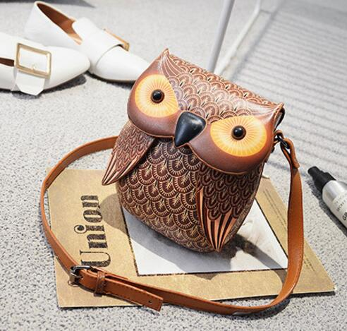High Quality Leather Owl Handbags