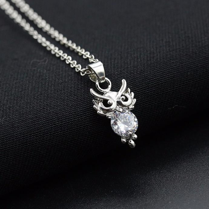 Women Diamond Owl Necklace