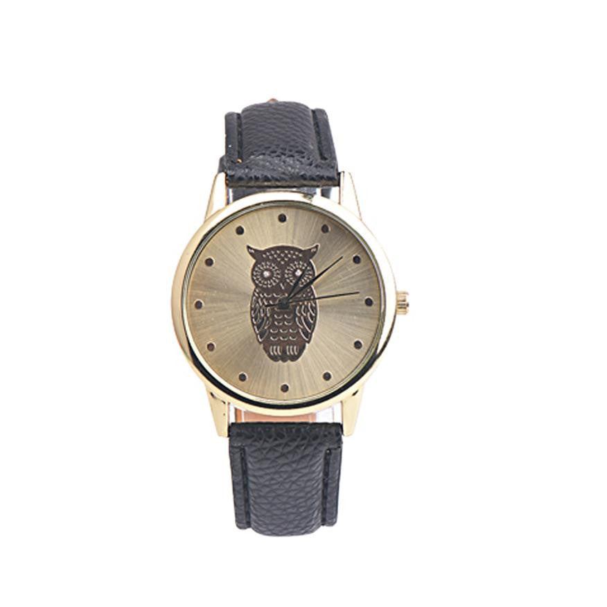 Owl Multicolor Women Watch With Leather Band