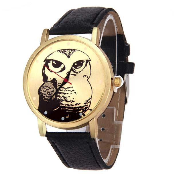 Owl Leather Band Vogue Watch