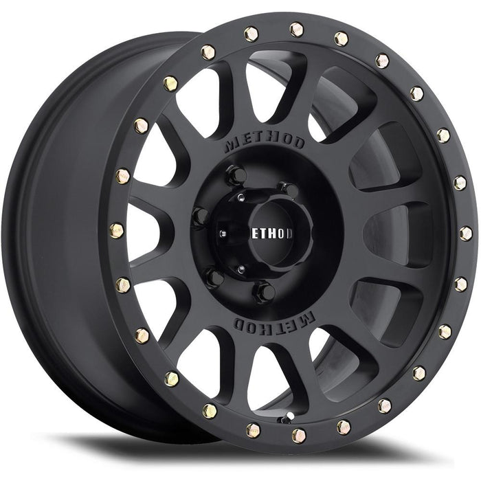 MIdnight 4x4, Method Wheels, method, wheel, simulated beadlock, bead lock, fake bead, faux, matte, black, 305