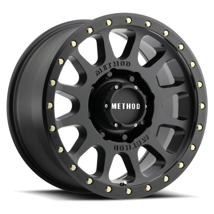 MIdnight 4x4, Method Wheels, method, wheel, simulated beadlock, bead lock, fake bead, faux, matte black, 305