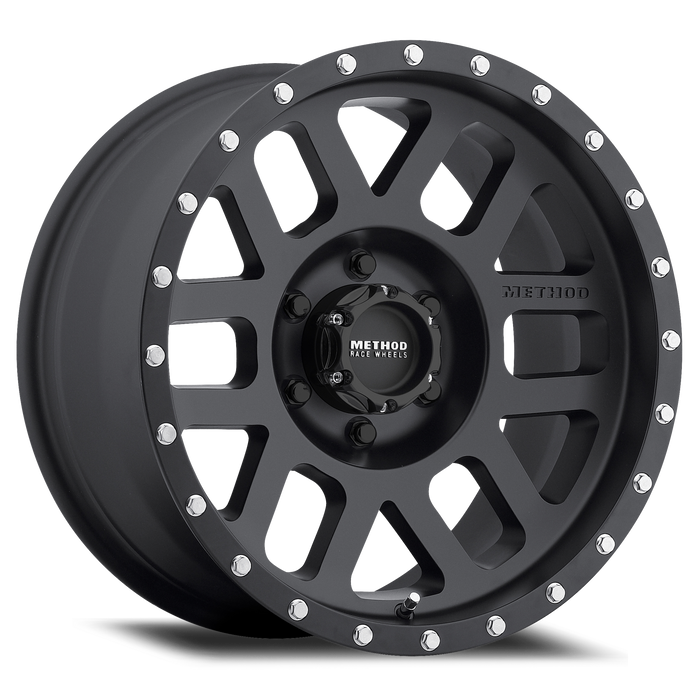 MIdnight 4x4, Method Wheels, method, wheel, simulated beadlock, bead lock, fake bead, faux, matte, black, 306