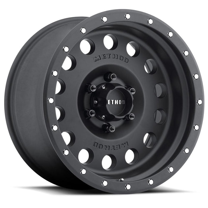 method wheel, method, wheel, midnight 4x4, faux bead, fake beadlock, bead lock, 307, hole, matte black
