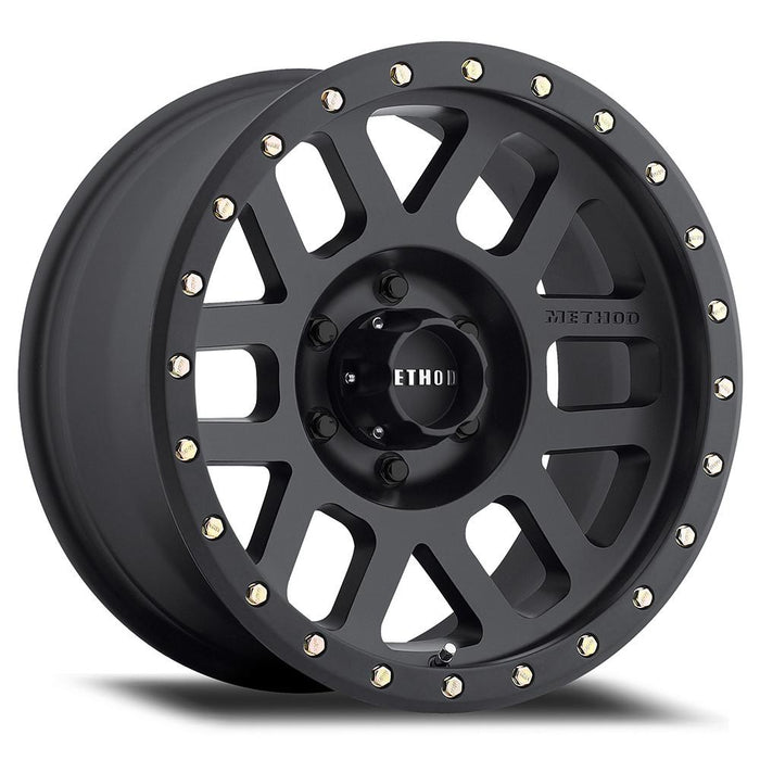 MIdnight 4x4, Method Wheels, method, wheel, 309, grid, matte black, beadlock, bead lock, faux, fake bead