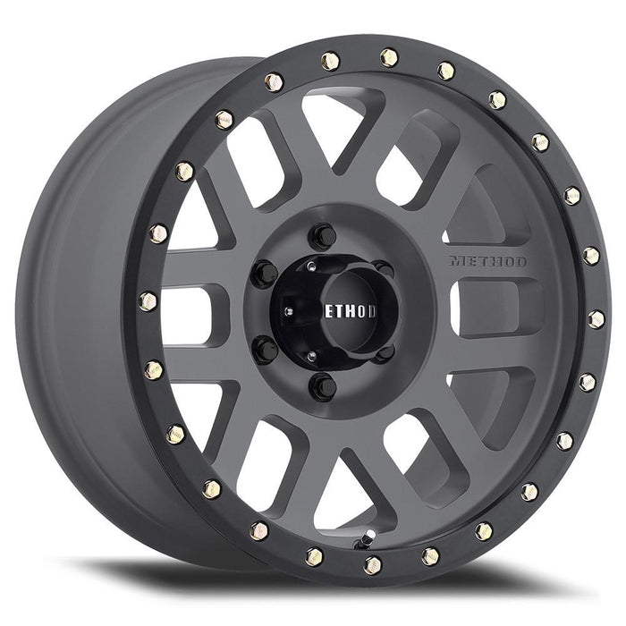 MIdnight 4x4, Method Wheels, method, wheel, 309, grid, titanium, beadlock, bead lock, faux, fake bead