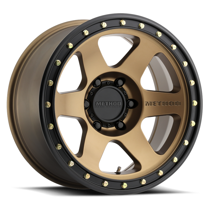 beadlock, bead lock, faux, fake bead, method wheels, method wheel, midnight 4x4, 310, Con 6 Bronze,