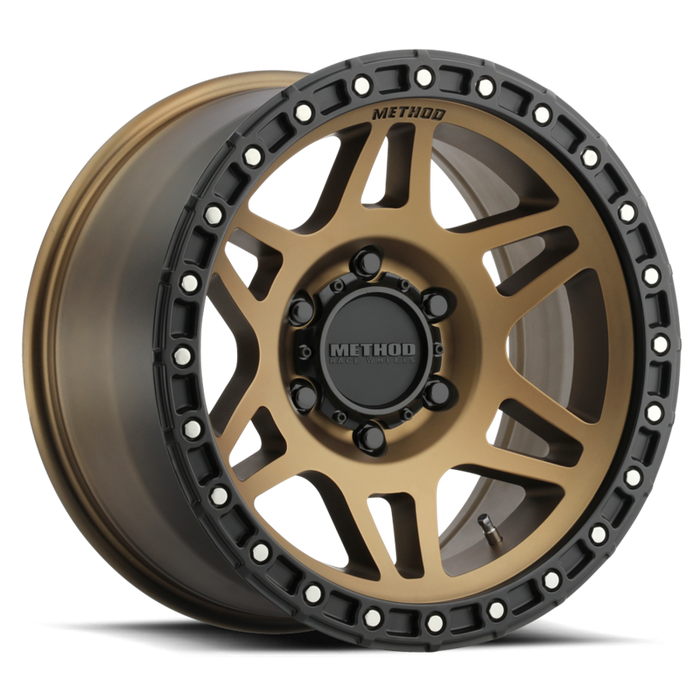 beadlock, bead lock, faux, fake bead, method wheels, method wheel, midnight 4x4, 312, Bronze
