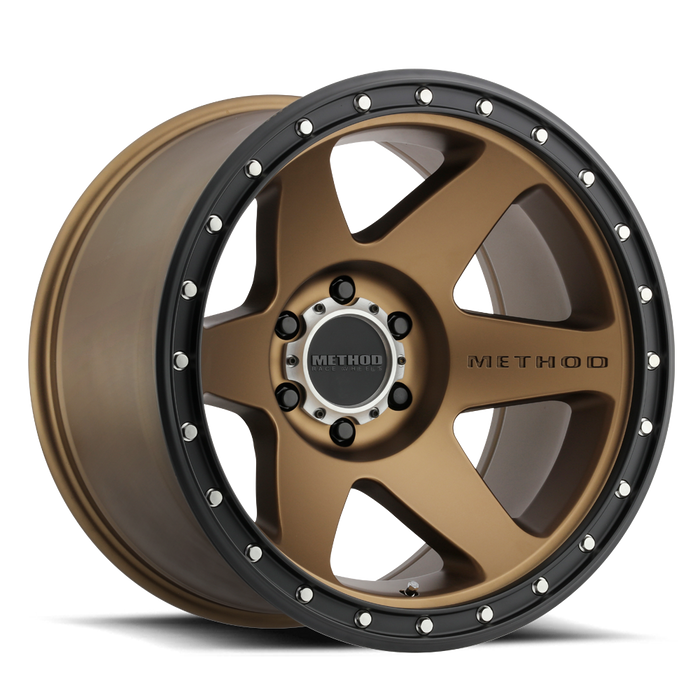 beadlock, bead lock, faux, fake bead, method wheels, method wheel, midnight 4x4, 610, Con 6, Bronze