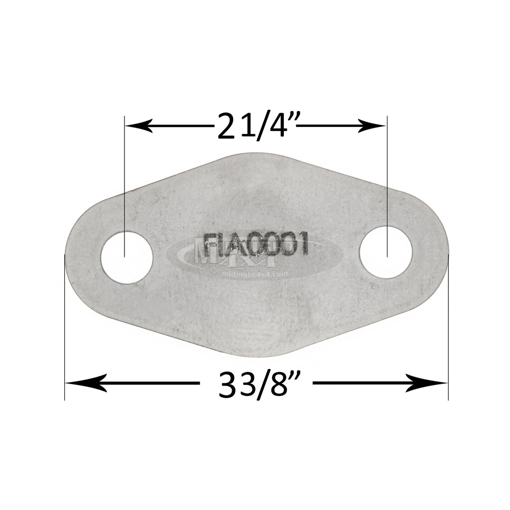 FLA0001, Flange, Fabrication Part, Midnight 4x4