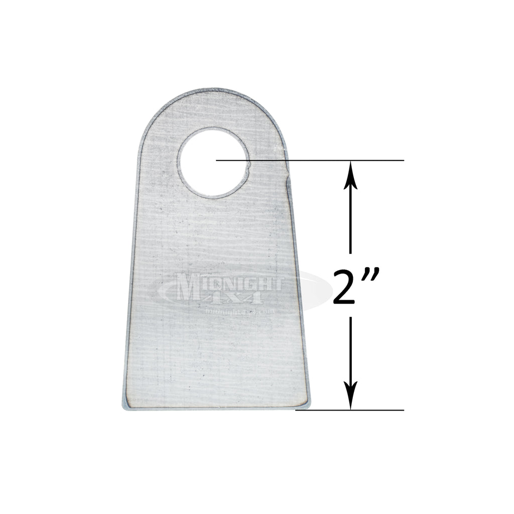 "Flat tabs, 1/2"" mount hole, 1/4"" thick, midnight 4x4"