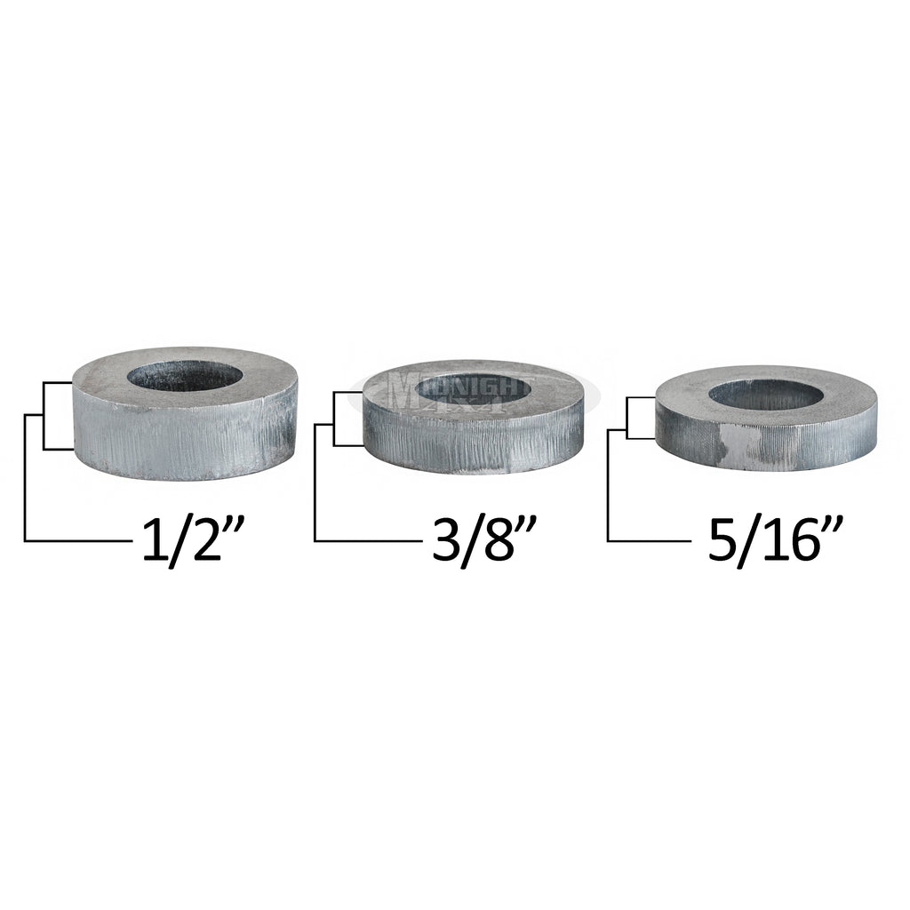 "Round, 3/4"" Mount Spacer, 1-1/2"" Diameter, 3/8"" Thick, Midnight 4x4"