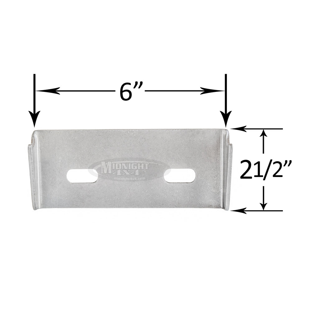 "Transmission mount bracket with slots, 6"" long, fits 1-1/2"" tube, 2-1/2"" tall, midnight 4x4"