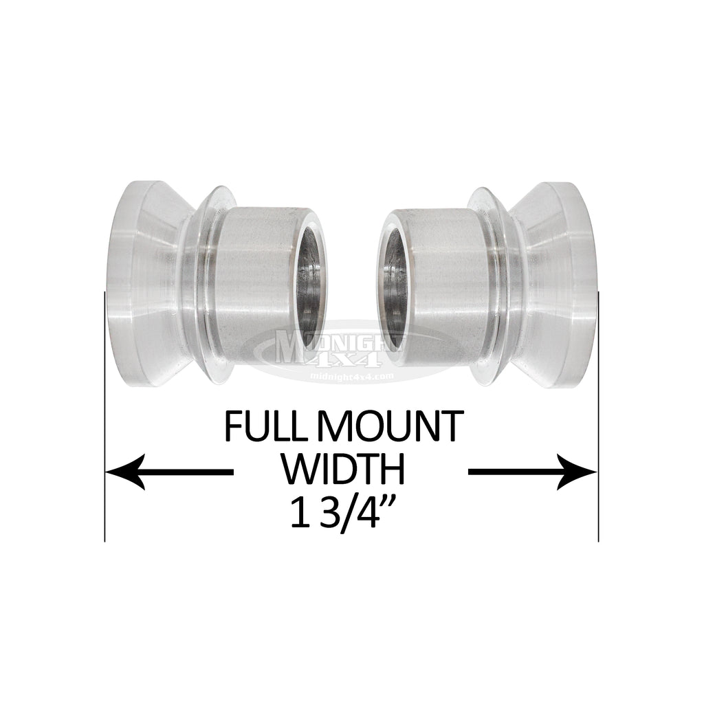 "3/4"" High Misalignment Spacer, 1/2"" Bolt, 1-3/4"" Full Mount Width, Heim Spacer, Midnight 4x4"