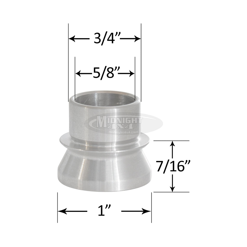 "3/4"" High Misalignment Spacer,5/8"" Bolt, 1-3/4"" Full Mount Width, Heim Spacer, Midnight 4x4"