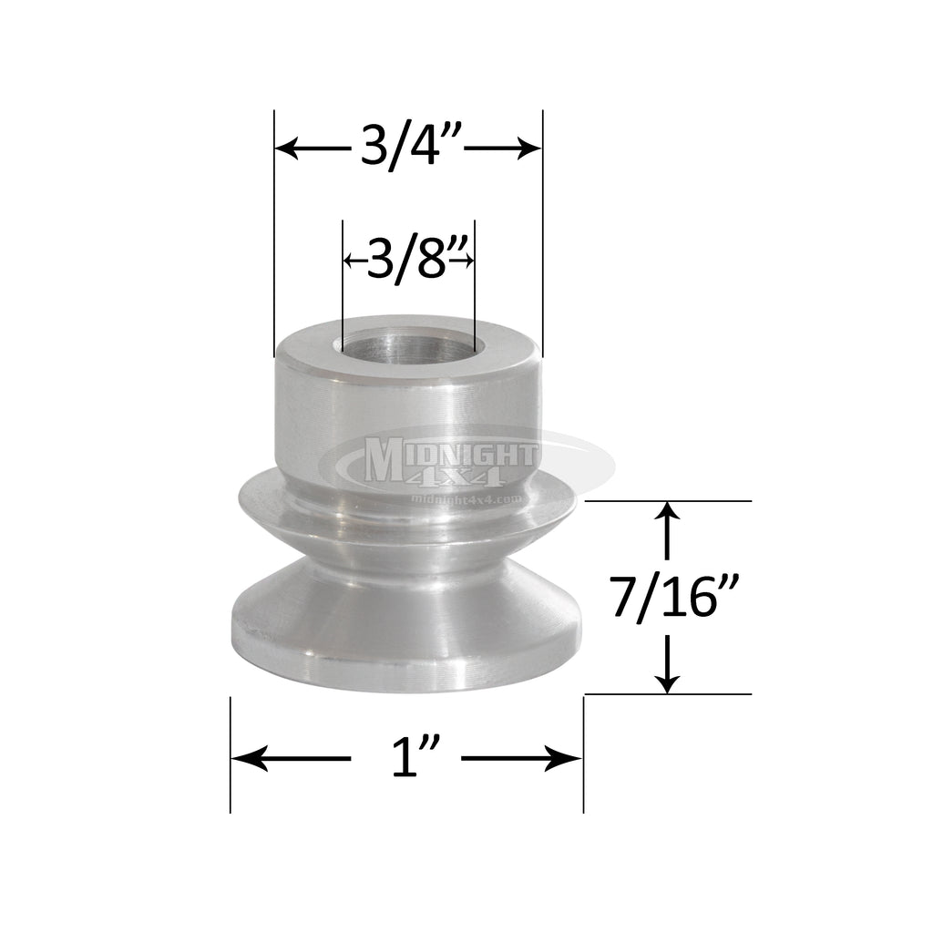 "3/4"" High Misalignment Spacer, 3/8"" Bolt, 1-3/4"" Full Mount Width, Heim Spacer, Midnight 4x4"