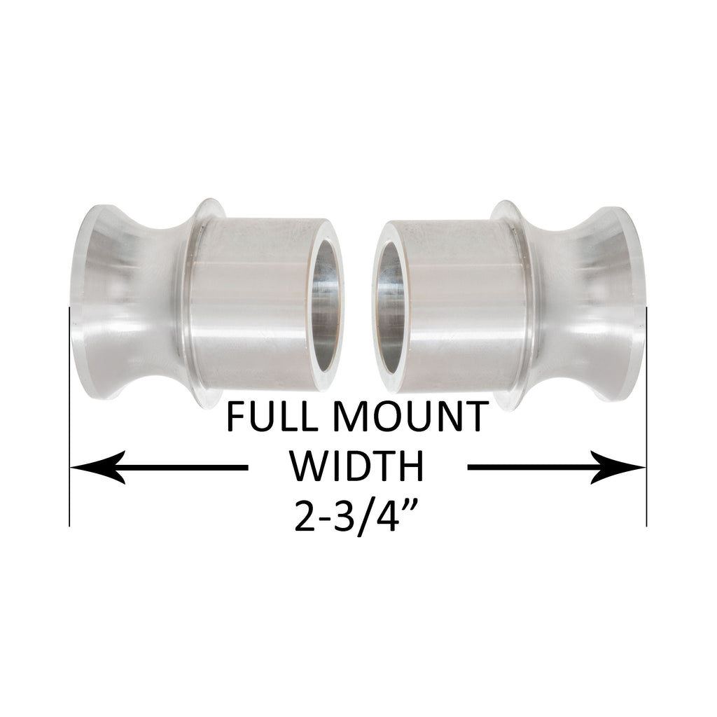 "16-12HB, 1"" High Misalignment Spacer, Fits 3/4"" bolt, hi mis spacer, heim spacer, High Mis Spacer, 2-3/4"" mount width, midnight 4x4"