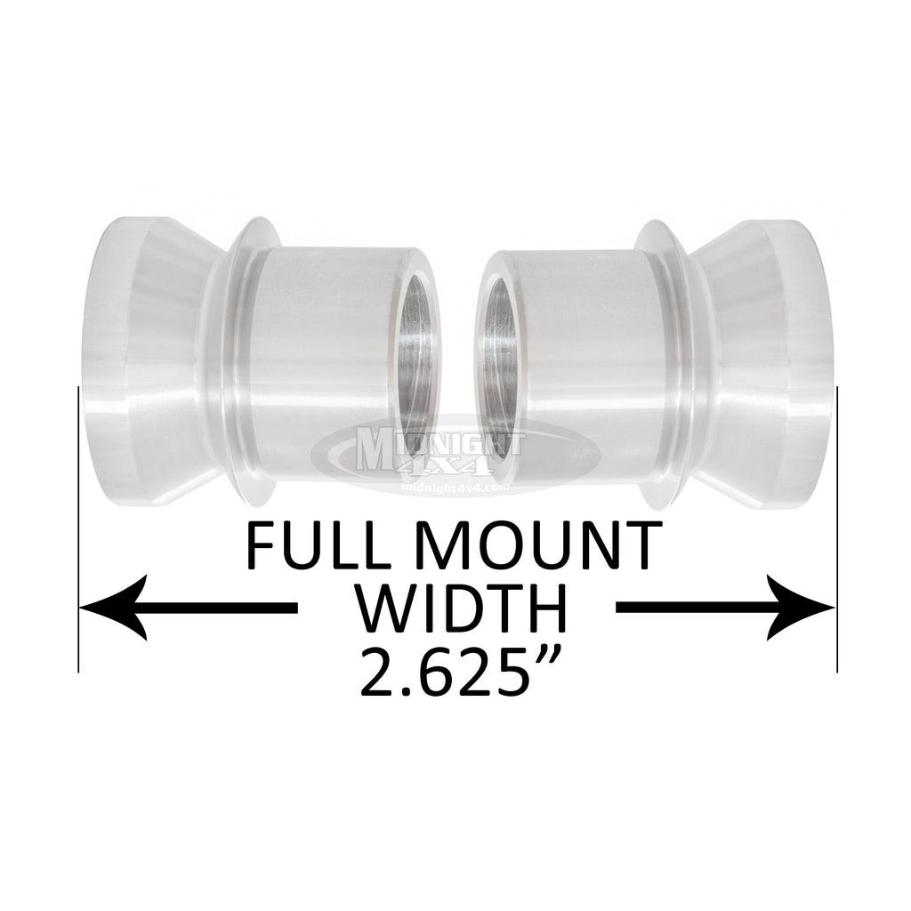 "HMS-1/562, 1"" High Misalignment Spacer, Fits 9/16"" bolt, hi mis spacer, heim spacer, High Mis Spacer, 2-5/8"" mount width, midnight 4x4"