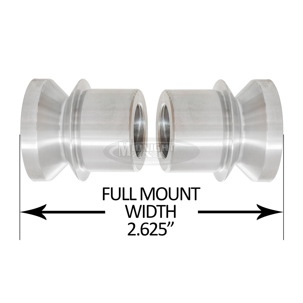"HMS-1/625, 1"" High Misalignment Spacer, Fits 5/8"" bolt, hi mis spacer, heim spacer, High Mis Spacer, 2-5/8"" mount width, midnight 4x4"