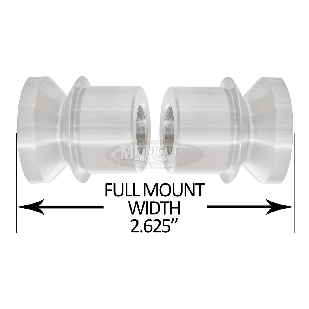 "HMS-1/750, 1"" High Misalignment Spacer, Fits 3/4"" bolt, hi mis spacer, heim spacer, High Mis Spacer, 2-5/8"" mount width, midnight 4x4"