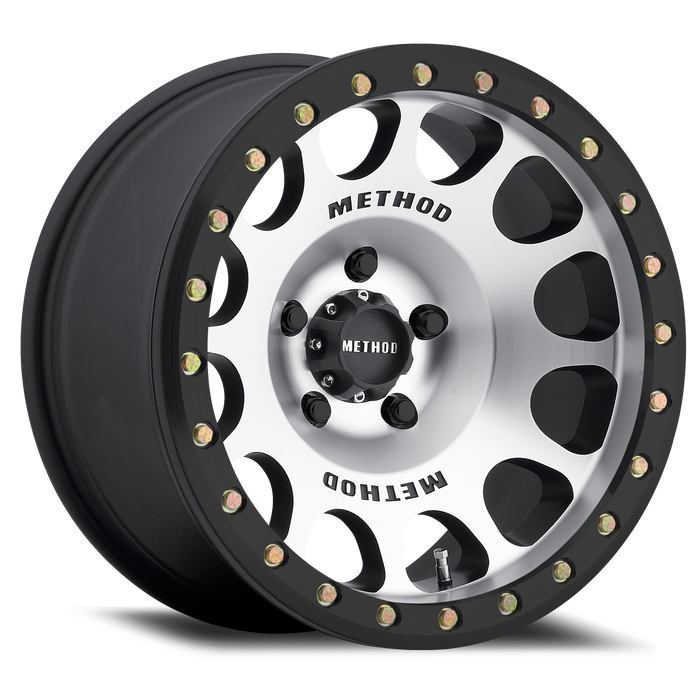 Method Race Wheels: 105 Beadlock Machined (Matte Black E-Coating)