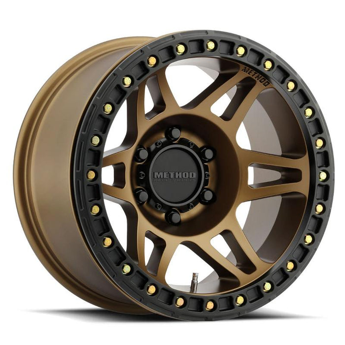 Method Wheel, method, wheels, midnight 4x4, 106, beadlock, machined, bead lock, bronze