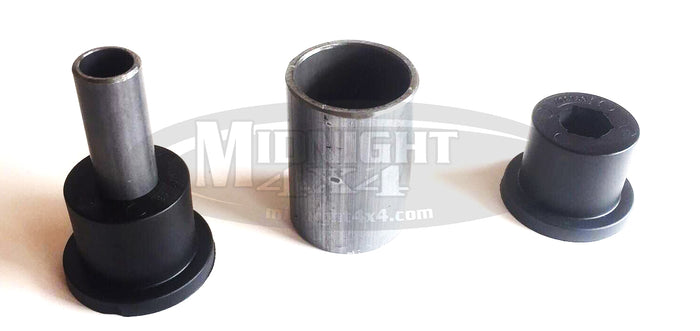 poly bushing assembly, bushing kit, poly urethane, inner sleeve, outer sleeve, mount sleeve, midnight 4x4, build your own, universal