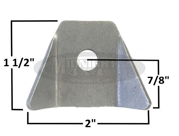 body tab, body mount, tab, 2""