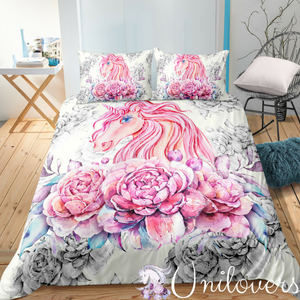 [Special] Floral Unicorn Bedding Set
