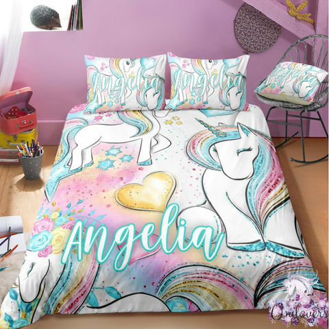 Image of B3 Customize Unicorn Bedding Set