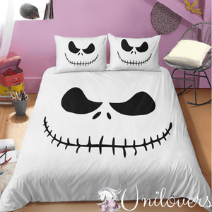 White Skeleton Bedding Set