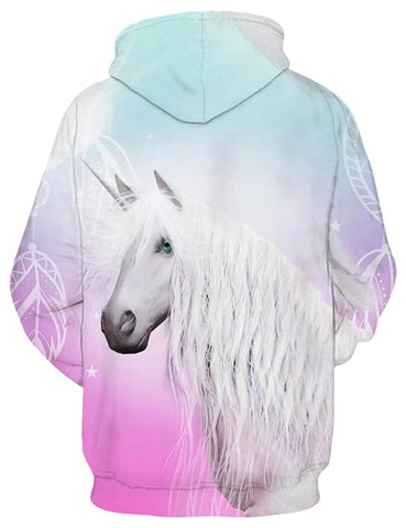 Image of Light Pink Unicorn Hoodie