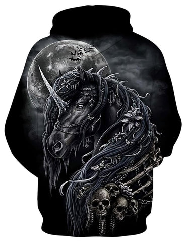 Image of Jet Black Unicorn Hoodie