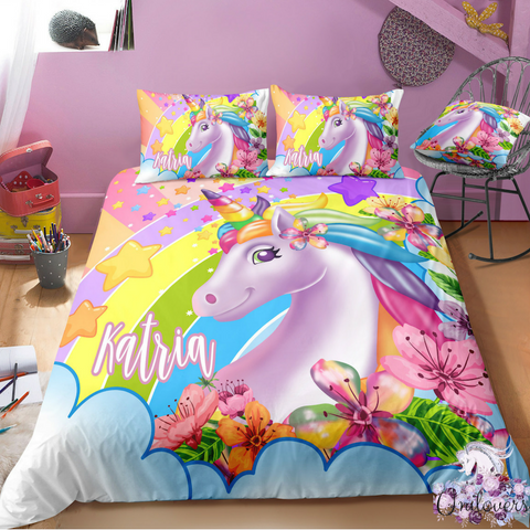 Image of G1 Customize Unicorn Bedding Set