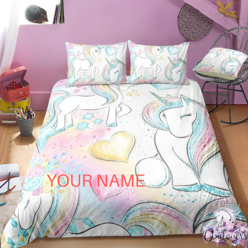 B3 Customize Unicorn Bedding Set
