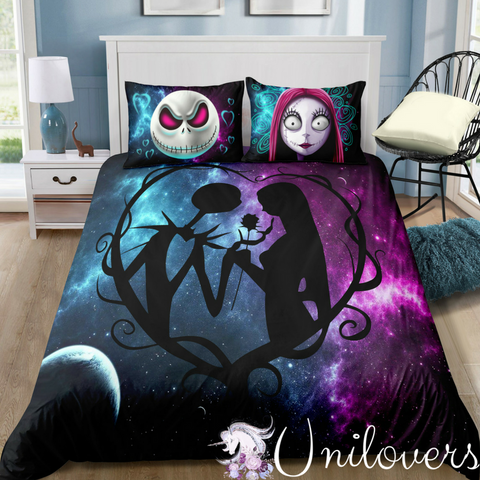 Galaxy of Halloween Love Bedding Set