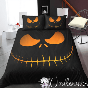 Black Pumpkin Bedding Set