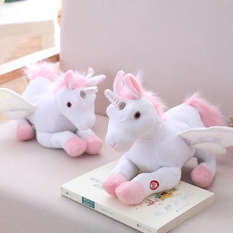 Image of Electric Singing Unicorn Plush Toy