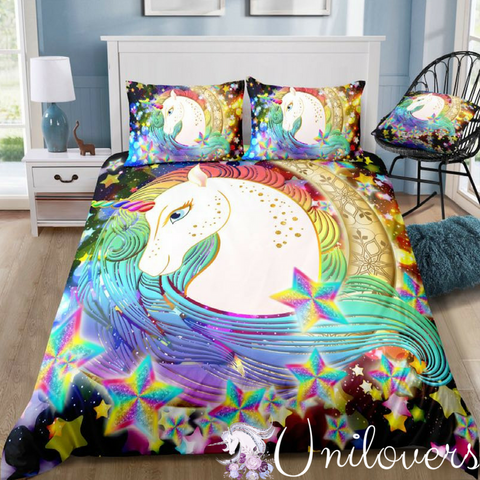 Magical Sparkling Unicorn Bedding Sets