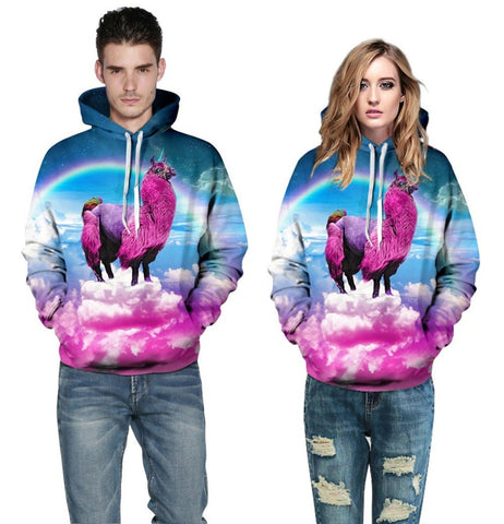 Colorful Camel Unicorn Hoodie