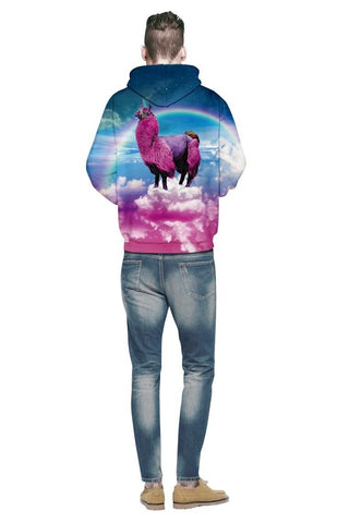 Image of Colorful Camel Unicorn Hoodie