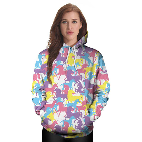 Image of Colorful Unicorn Hoodie