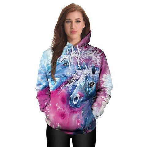 Image of Couple Unicorn Hoodies
