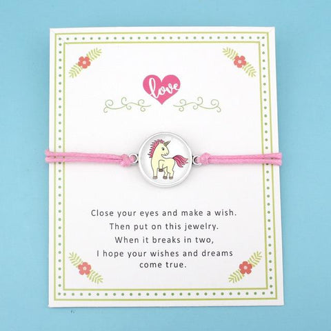 Image of Charm Unicorn Bracelets Wax Cords